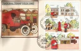 AUSTRALIE. Véhicules Postaux En 1900. Bloc-feuillet Sur Lettre FDC - Autos