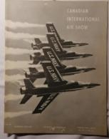 OLD  BROCHURE  CANADIAN INTERNATIONAL AIR SHOW FLIGHT SCHEDULE OTTAWA BEAUTIFUL  Cca 1960's - Armées Étrangères