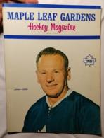 OLD  BROCHURE  MAPLE LEAF GARDENS HOCKEY MAGAZINE JOHNNY BOWER  BEAUTIFUL  Cca 1960's - Sports