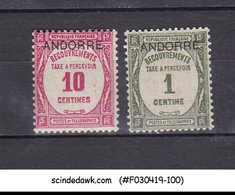 ANDORRA FRENCH - 1931 SG#FD32 & FD33 OVERPRINTED 2V MNH - French Andorra