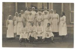 Eure Et Loir DREUX Rare Carte Photo Militaria Guerre 14 18  Infirmières Médecins Ambulance Hôpital 1918  Belle Animation - Dreux
