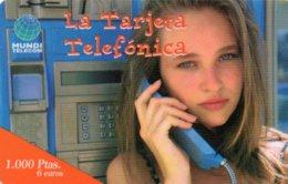 ESPAGNE / CARTE TELEFONICA MUNDE TELECOM 1.000 PTAS / 6 EUROS - Espagne