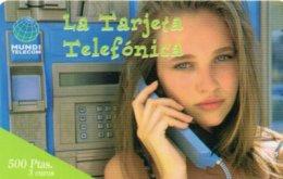 ESPAGNE / CARTE TELEFONICA MUNDE TELECOM 500 PTAS / 3 EUROS - Espagne
