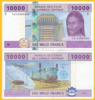 Central African States 10000 (10,000) Francs Rep. Of Congo (T) P-110T 2002 Sign. Tolli & Aleka-Rybert UNC Banknote - Stati Centrafricani