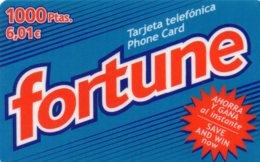 ESPAGNE / CARTE TELEFONICA PHONE CARD FORTUNE 1000 PTAS / 6,01€ - Espagne