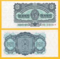 Czechoslovakia 3 Korun P-81a 1961 UNC Banknote - Czechoslovakia