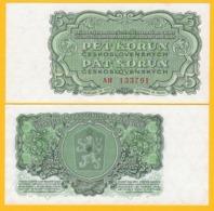 Czechoslovakia 5 Korun P-82b 1961 UNC Banknote - Czechoslovakia