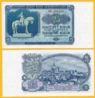 Czechoslovakia 25 Korun P-84a 1953 UNC Banknote - Czechoslovakia
