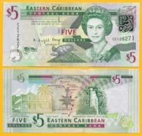 East Caribbean States 5 Dollars P-47 2008 UNC Banknote - Oostelijke Caraïben