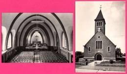 2 Cp - Peronnes Lez Antoing - Eglise Et Intérieur De L'église - Edit. NELS DEPELCHIN - Antoing