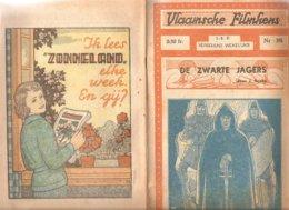 Vlaamsche Filmkens 351 De Zwarte Jagers J. Acobs 1937 GROOT FORMAAT: 16x23,5cm Averbode's Jeugbibliotheek - Anciens