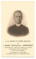 Oud Doodsprentje Militair Aalmoezenier Francois Jardinet Leuven Antwerpen 1882-1926 - Santini