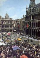 Bruxelles - Grand Place Et Maison Du Roi Vers Rue Au Beurre - Grotte Markt En Broodhuis - Formato Grande Viaggiata – E 1 - Non Classificati