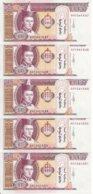 MONGOLIE 20 TUGRIK 2011 UNC P 63 F ( 5 Billets ) - Mongolie