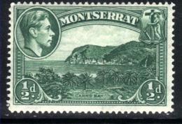 Montserrat 1938 KGVI 1/2d Carr's Bay SG 101a MM ( C876 ) - Montserrat