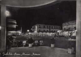 JESOLO LIDO -VENEZIA-PIAZZA MARCONI-NOTTURNO-CARTOLINA VERA FOTOGRAFIA VIAGGIATA 1955-1960 - Venezia (Venice)