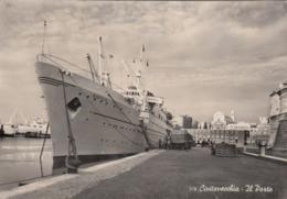 CIVITAVECCHIA-ROMA-IL PORTO-CARTOLINA VERA FOTOGRAFIA VIAGGIATA IL 30-8-1955 - Civitavecchia