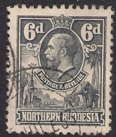 Northern Rhodesia 1925 - 29 KGV 6d Slate Grey SG  ( F617 ) - Rhodesia Del Nord (...-1963)