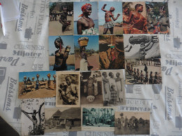 LOT  DE  18    CARTES  POSTALES     FEMMES   AFRICAINES - 5 - 99 Cartes