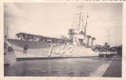 CPA PHOTO. Torpilleur L'Ouragan En Rade De Bayonne .Année 1939.  BATEAU DE GUERRE . - Guerre