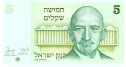 ISRAEL 5 SHEQUALIM 1978 PICK 44 UNC - Israël