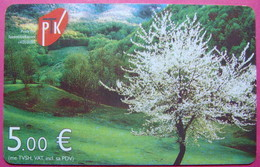 Serial # 55... Kosovo CHIP PHONE CARD 5 EURO Operator VALA900 *BREZOVICA Mountain* - Kosovo