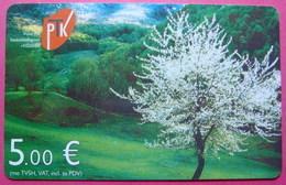 Kosovo CHIP PHONE CARD 5 EURO Operator VALA900. Serial # 54... *BREZOVICA Mountain* - Kosovo