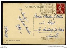 Lil3107 Haute Saône 70 DAGUIN LUX102 Luxeuil Ses Thermes Ses Monuments Ses Broderies /CP 29/06/38 - Storia Postale