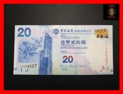HONG KONG 20 $  1.7.2015  P. 341 E  UNC - Hong Kong