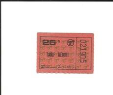 Ticket Ancien. MÉTRO De MONTRÉAL (Canada). Voir Description - Metro