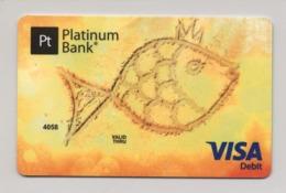 SPECIMEN Credit Card Fish Bankcard Platinum Bank UKRAINE VISA (Not Activated) - Cartes De Crédit (expiration Min. 10 Ans)