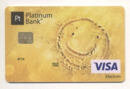 SPECIMEN Credit Card Smile Bankcard Platinum Bank UKRAINE VISA (Not Activated) - Cartes De Crédit (expiration Min. 10 Ans)