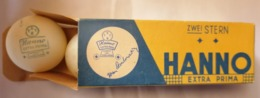 OLD  PACKAKING ORIGINAL AMBALAGE FAMOUS HANNO EXTRA PRIMA BALL TURNIERBALL TABLE TENNIS  1960's. RRR - Table Tennis