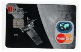 SPECIMEN Credit Card Space Satellite Spaceship Bankcard BM Bank UKRAINE MasterCard (Not Activated) - Cartes De Crédit (expiration Min. 10 Ans)