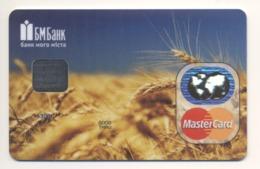 SPECIMEN Credit Card Wheat Field Bankcard BM Bank UKRAINE MasterCard (Not Activated) - Cartes De Crédit (expiration Min. 10 Ans)