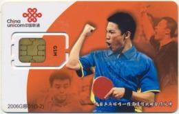 CHINA - CHINE - CINA GSM (SIM) CHIP CARD SPORT TABLE TENNIS MINT UNUSED - China