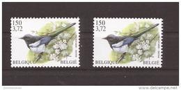 OCB 2988 Wit En Fluor Papier Zonder Scharnier ** - 1985-.. Pájaros (Buzin)