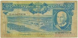 Angola - 50 Escudos - 10.06.1962 - Pick 93 - Série 12 VA - Américo Tomás - PORTUGAL - Angola