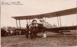 Aviation - Aviateur Eric Bradley - Avion AVRO CH-39 - Servion Près Lausanne - 1921 - Rarissime - Aviadores