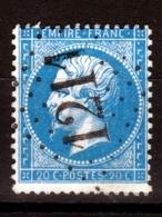 LOSANGE GC 1211 Crécy-sur-Serre Sur NAPOLEON N°22 / DISPERSION D'UNE COLLECTION!! - 1862 Napoléon III