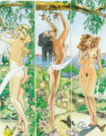 Lot De 3 MARQUE-PAGES  Erotiques - Bookmarks