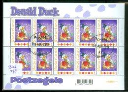 NEDERLAND * Persoonlijke Postzegels * DISNEY * DONALD DUCK * BLOK Of 10 Stamps  * POSTFRIS GESTEMPELD (278) - Disney