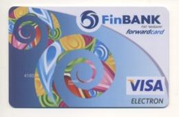 SPECIMEN Credit Forward Card Bankcard FinBANK Bank UKRAINE VISA (Not Activated) - Cartes De Crédit (expiration Min. 10 Ans)