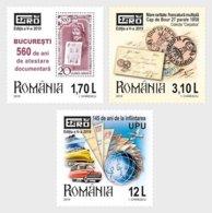 Romania 2019 / Romanian Philatelic Exhibition EFIRO 2019, 5-th Edition / Set 3 Stamps - Philatelic Exhibitions