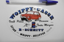 Autocollant Stickers - WOIPPY CASSE-AUTO 57 MOSELLE Casse Automobiles - Autocollants