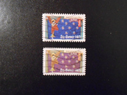 FRANCE  YT A457 + 457A VARIETE DE COULEUR SUR ST-SEVER Violet Au Lieu De Bleu TRES RARE - Curiosités: 2010-.. Oblitérés