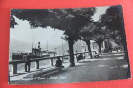 Lago Maggiore Luino Lungo Lago Con Piroscafo 1951 - Andere Städte