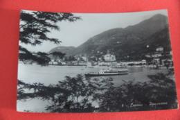 Lago Maggiore Laveno Veduta  Con Piroscafo 1950 - Andere Städte