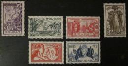 Soudan Exposition 1937 - YT 93 94 95 96 97 98 (*) - Soudan (1894-1902)