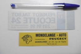 Autocollant Stickers - Garage Automobiles TALBOT PEUGEOT MONDELANGE  - Lot De 2 Autocollants - Autocollants